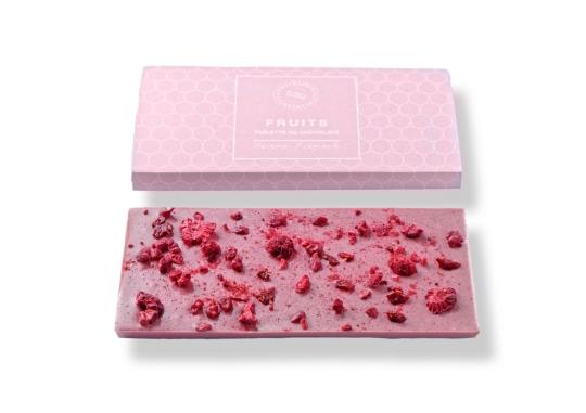 Malinová čokoláda z růžové Ruby čokolády 80 g
